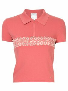 Chanel Pre-Owned CC logo polo top - PINK