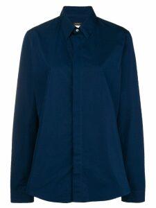 Jil Sander Pre-Owned concealed fastening shirt - Blue