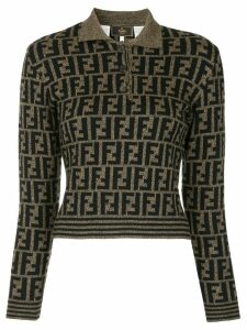 Fendi Pre-Owned Zucca pattern jumper - Black