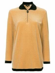 Fendi Pre-Owned logo longsleeved top - Brown