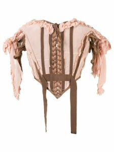 Jean Paul Gaultier Pre-Owned ruffled corset top - NEUTRALS