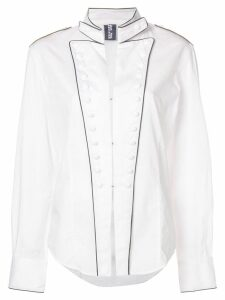 Jean Paul Gaultier Pre-Owned military inspired shirt - White