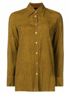 Jean Paul Gaultier Pre-Owned striped long sleeve shirt - Green