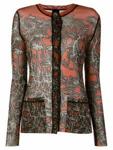 Jean Paul Gaultier Pre-Owned Scrible print sheer shirt - Yellow