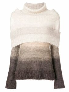 Jean Paul Gaultier Pre-Owned turtleneck colourblock jumper - Neutrals