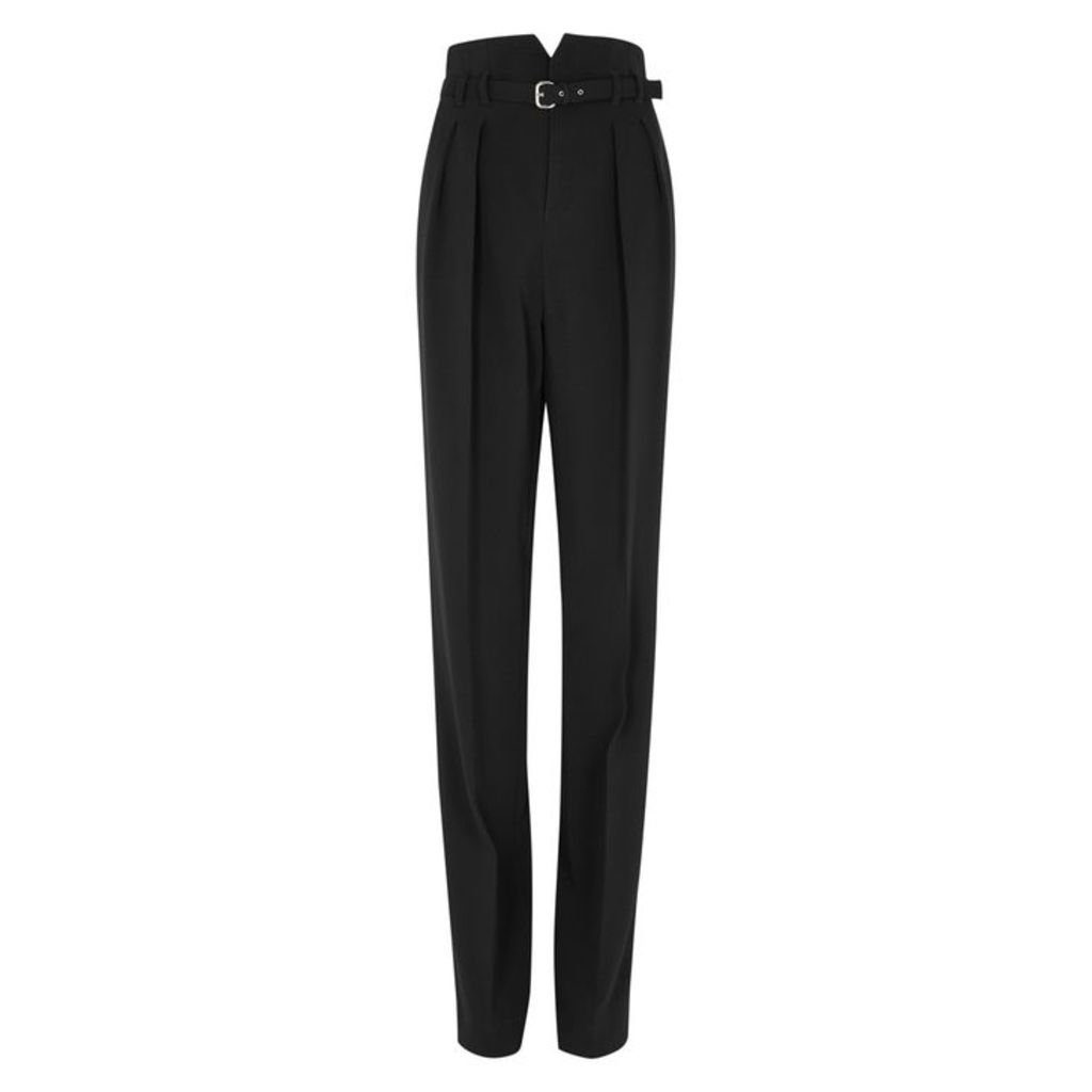 RED Valentino Black Wide-leg High-waisted Trousers