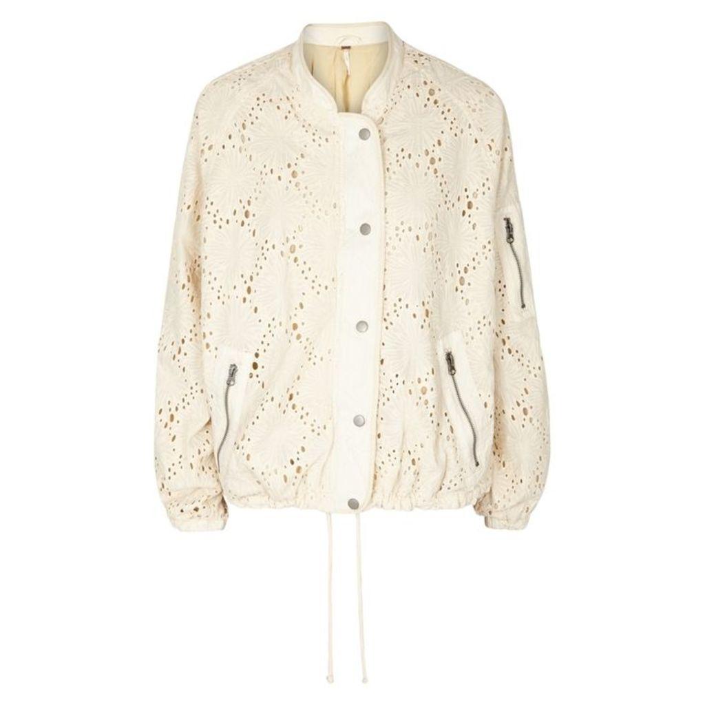 Free People Daisy Jane Cotton Bomber Jacket