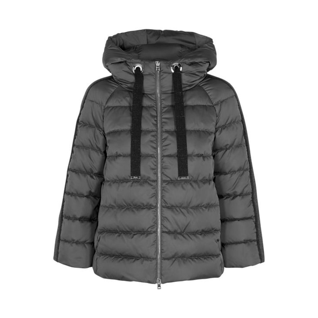 Herno Quilted Metallic-trimmed Shell Jacket