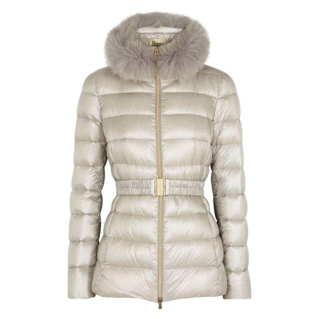 Herno Iconic Claudia Fur-trimmed Shell Jacket