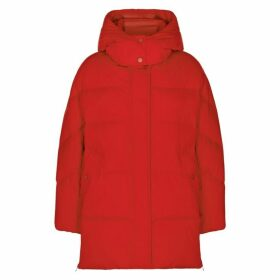 Woolrich Red Quilted Shell Jacket