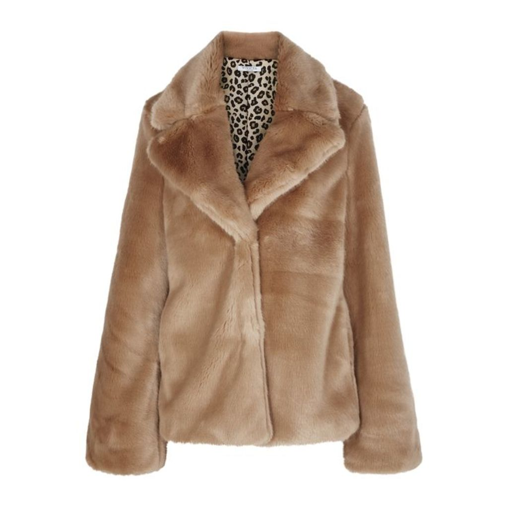 VIVETTA Caramel Faux Fur Jacket