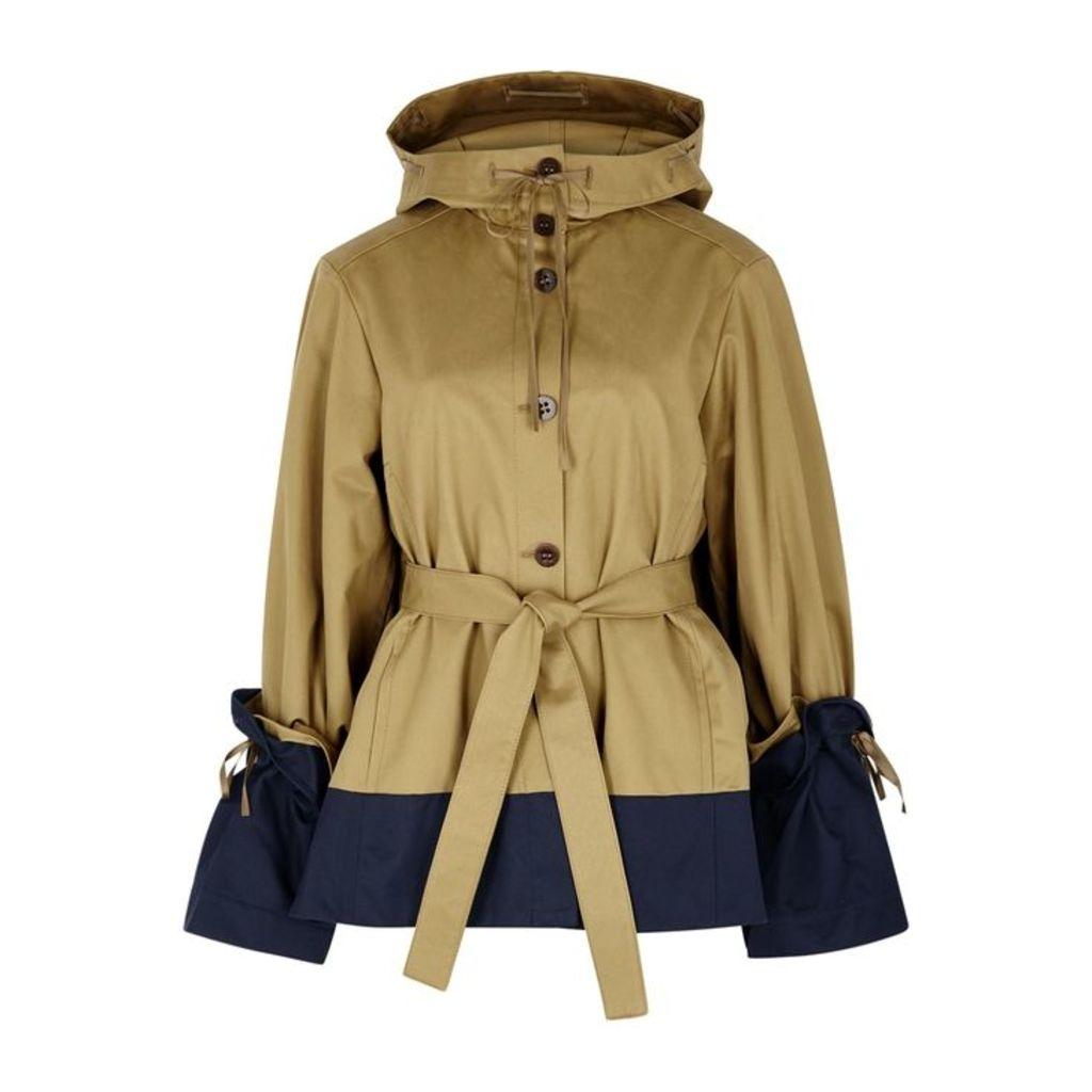 Palmer//harding Shadow Hooded Cotton Jacket