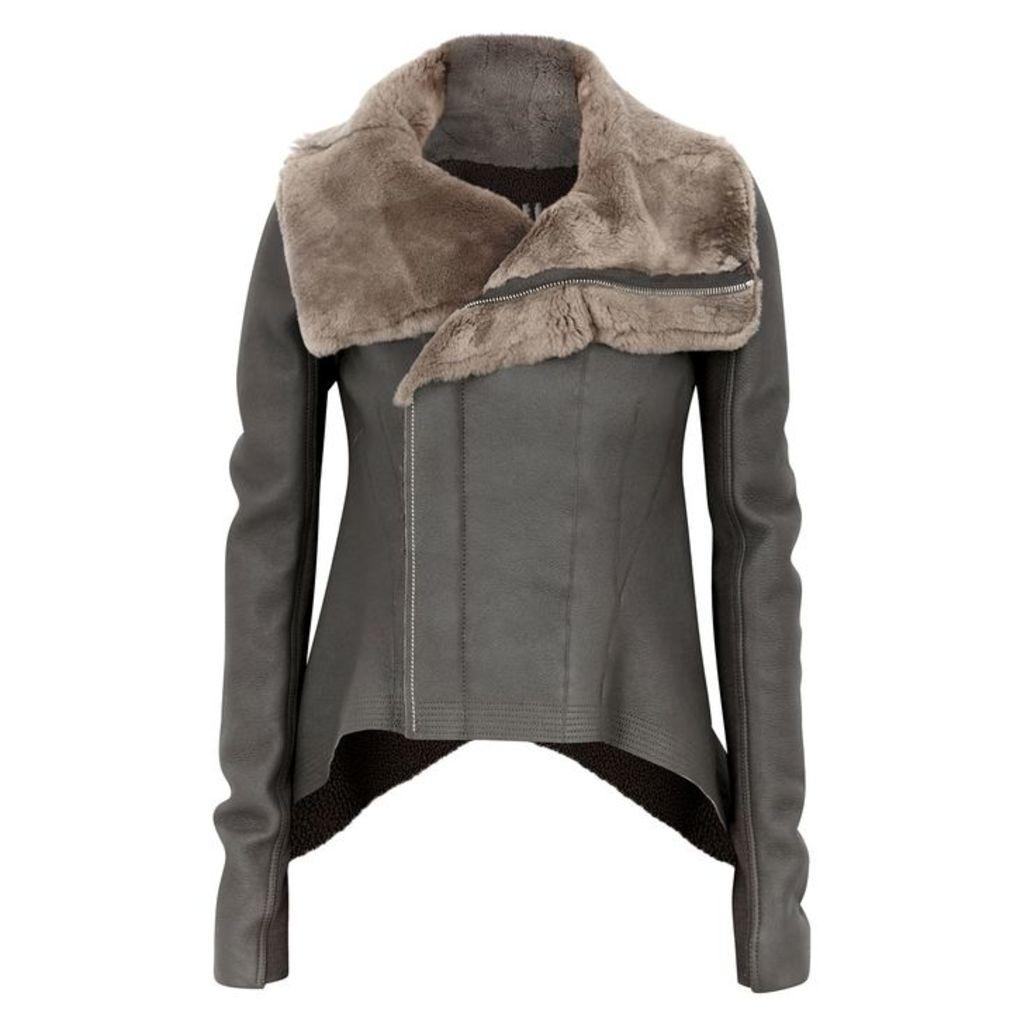 Rick Owens Naska Shearling-lined Leather Jacket