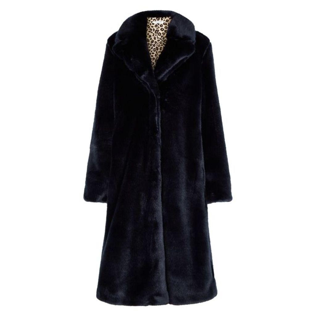 VIVETTA Midnight Blue Faux Fur Jacket