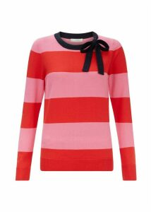 Effie Merino Wool Blend Sweater Pink Red