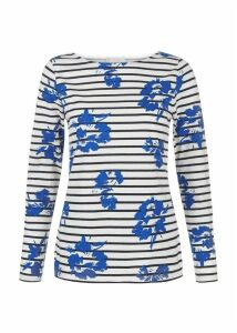 Floral Raine Breton Ivory Blue