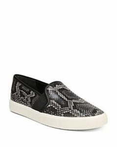 Vince Women's Blair-5 Snake-Print Leather Slip-On Sneakers