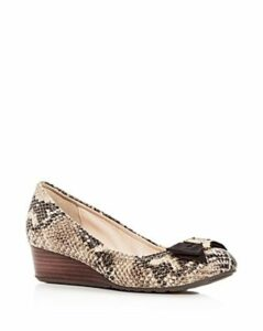 Cole Haan Women's Tali Snake-Embossed Leather Demi-Wedge Pumps