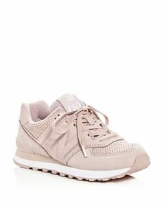 New Balance Women's 574 Nubuck Leather Lace Up Sneakers