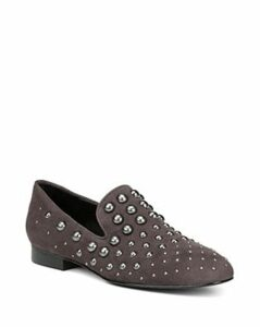 Donald Pliner Women's Loyd Almond Toe Studded Suede Loafers