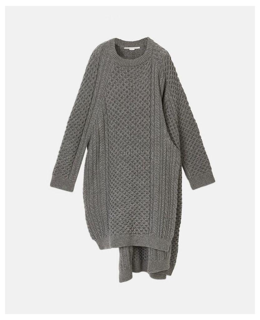 Stella McCartney Grey Aran Cape, Women's, Size L