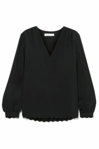 Chloé - Scalloped Cady Blouse - Black