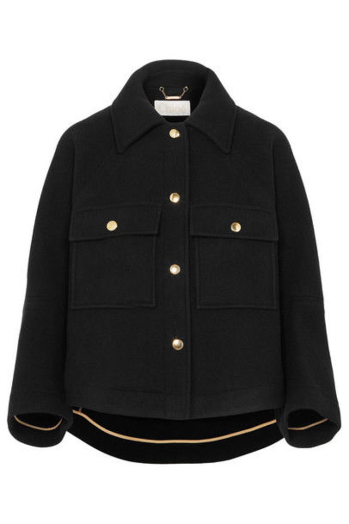 Chloé - Cropped Wool-blend Jacket - Black