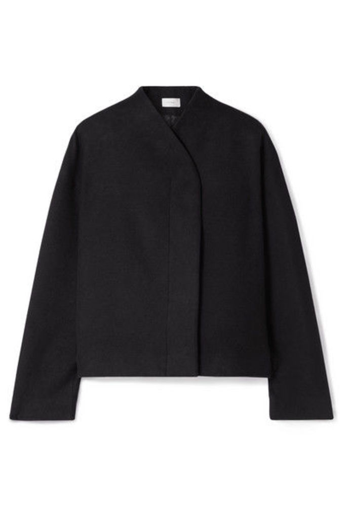 The Row - Moona Cotton And Wool-blend Jacket - Black