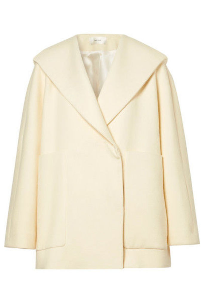 The Row - Ernstly Oversized Cotton And Wool-blend Jacket - Cream