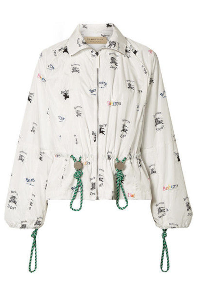 Burberry - Printed Shell Jacket - White