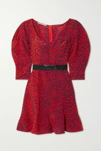 Balmain - Belted Striped Stretch-knit Cardigan - Black