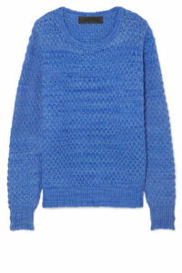 The Elder Statesman - Waffle-knit Cashmere Sweater - Lilac