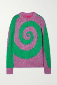 Prada - Houndstooth Wool-blend Tweed Coat - Beige
