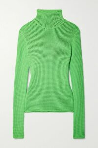 ALEXACHUNG - Cape-effect Ruffled Polka-dot Crepe Dress - Navy