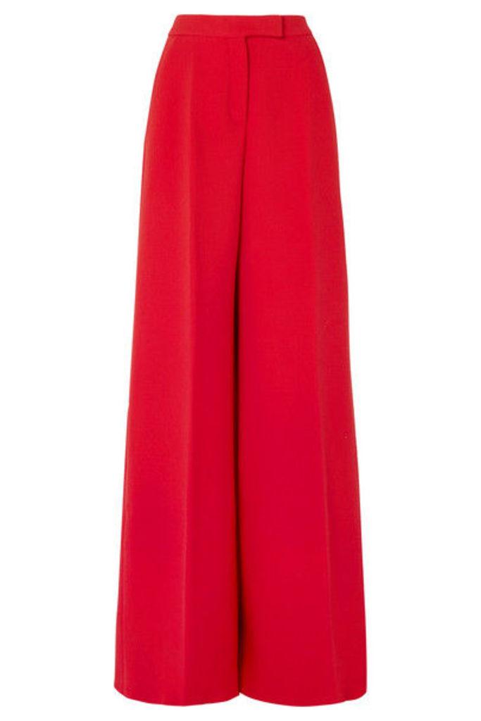 Antonio Berardi - Wool-blend Crepe Wide-leg Pants - Red