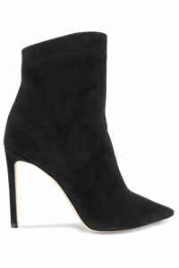 Jimmy Choo - Helaine 100 Suede Ankle Boots - Black