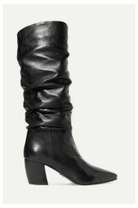 Prada - Leather Knee Boots - Black