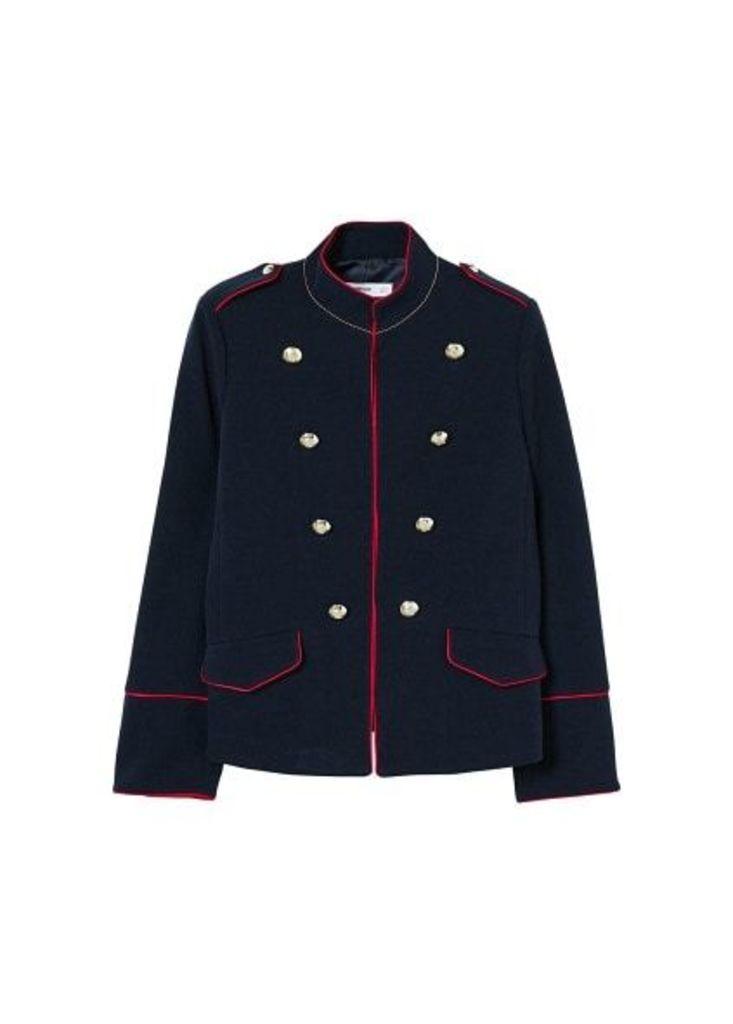 Military-style beads jacket