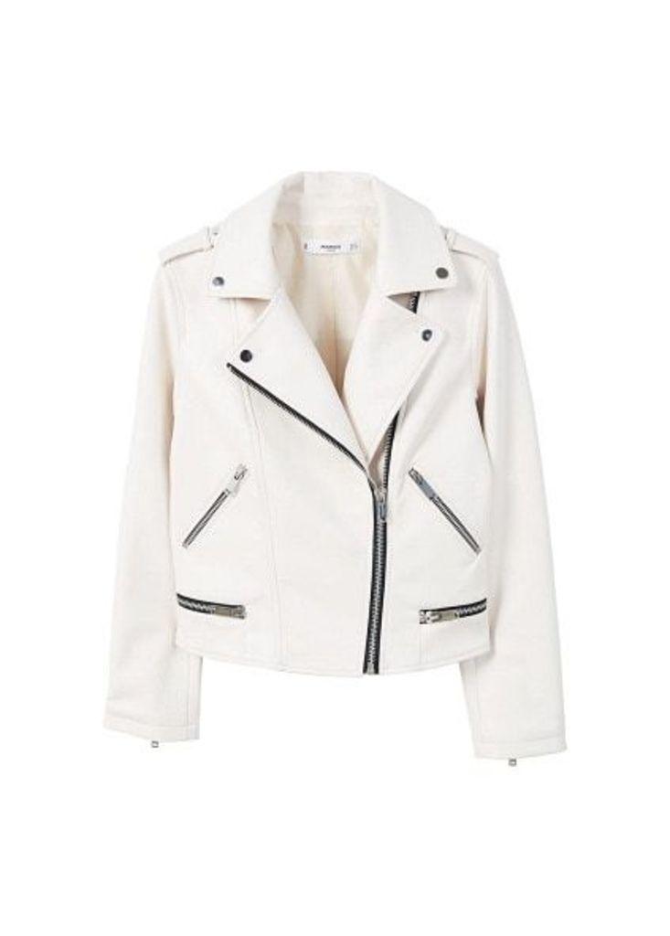 Appliqué biker jacket