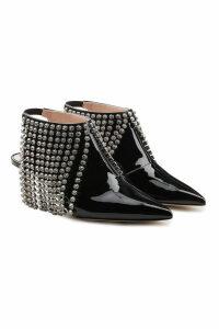 Christopher Kane Patent Leather Boots with Swarovski Crystal Fringe