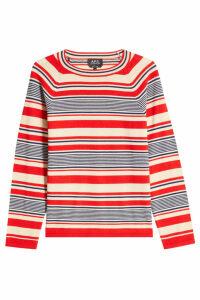A.P.C. Striped Merino Wool Pullover