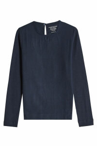 Majestic Cotton Blouse with Cashmere