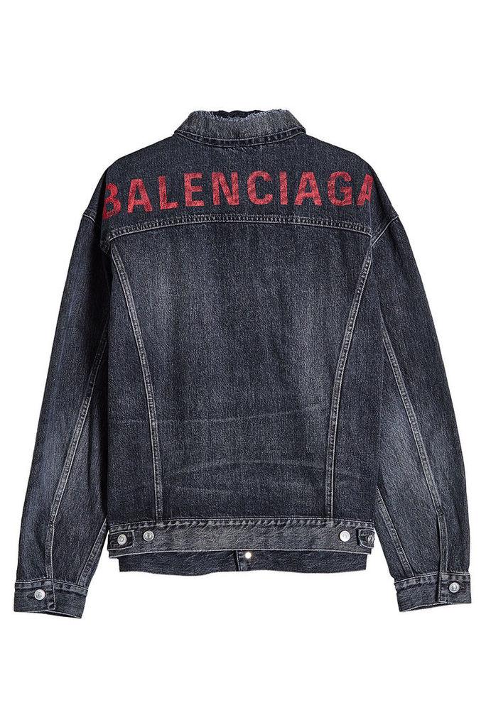 Balenciaga Like A Man Logo Denim Jacket