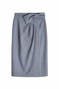Stella Jean Printed Skirt with Virgin Wool