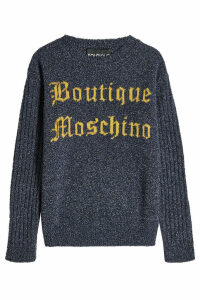 Boutique Moschino Logo Pullover with Virgin Wool