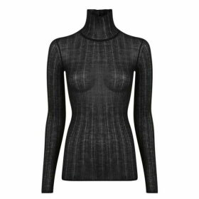 Theory Sheer Turtle Neck Top