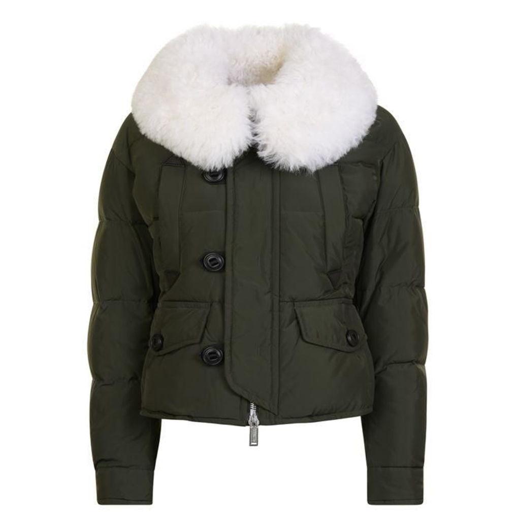DSQUARED2 Fur Collar Bomber Jacket
