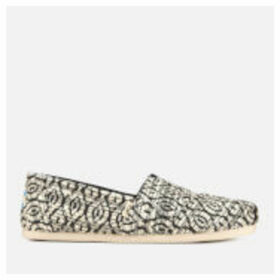 TOMS Women's Diamond Woven Alpargata Espadrilles - Black - UK 8 - Black