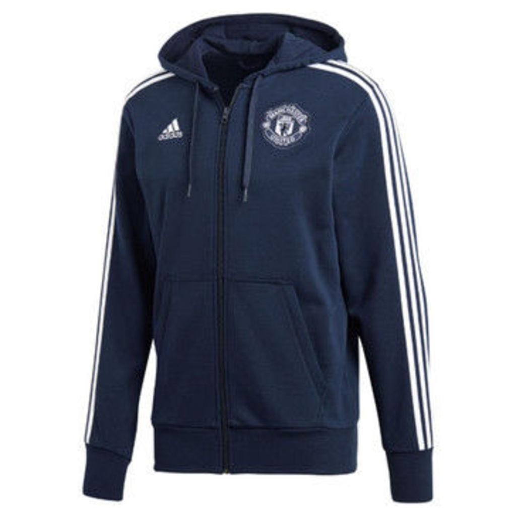 adidas  2018-2019 Man Utd 3S Hooded Zip  women's Tracksuit jacket in Blue