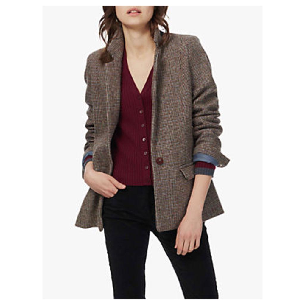 Brora Harris Tweed Jacket, Ocean/Pine